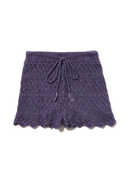 'smoothie'鉤織針織短褲