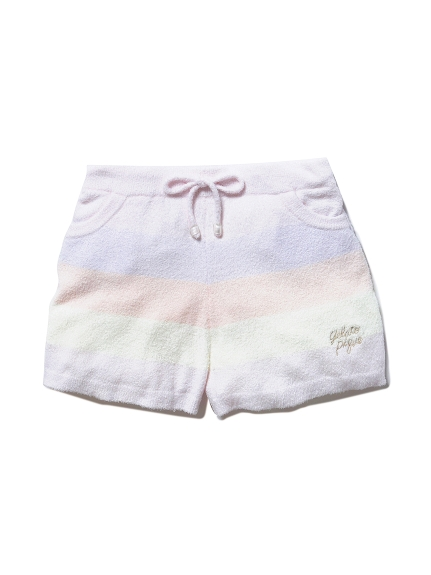 ' smoothie ' 粉彩條紋短褲