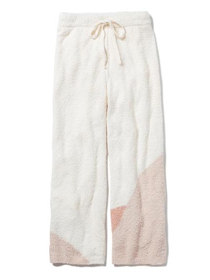 軟針織雙色長褲