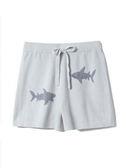 恐龍/鯊魚緹花短褲