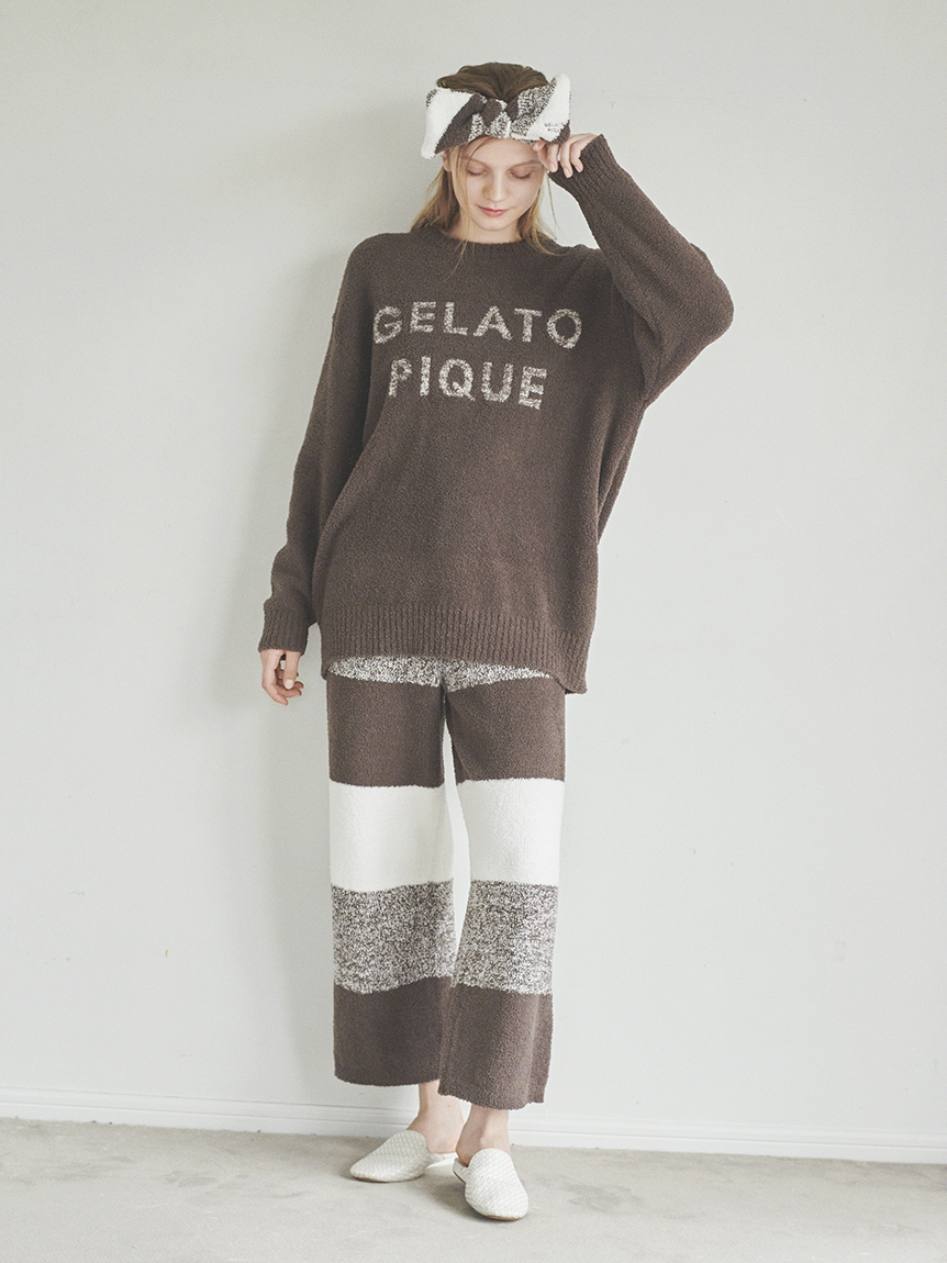baby moco 編織條紋長褲