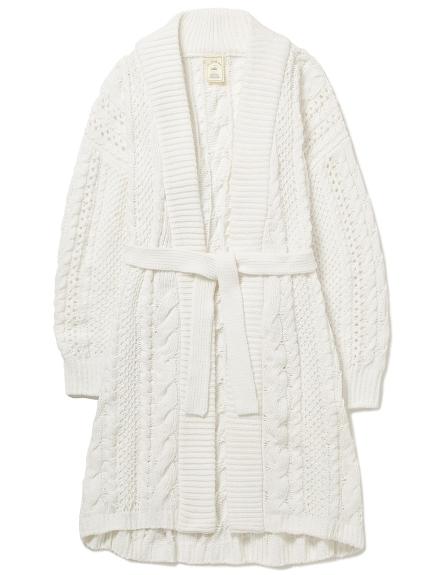 簡約麻花造型長袍外套