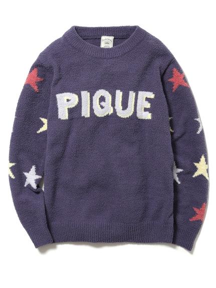 ' aqua dry ' 星星LOGO刺繡上衣