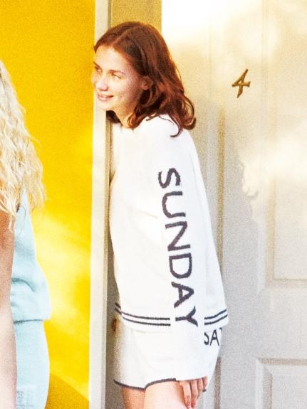 ' aqua dry ' week主題刺繡上衣