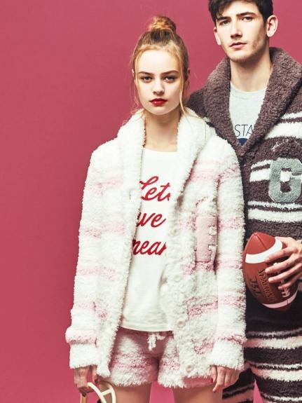 ' gelato ' 3條紋LOGO開襟外套