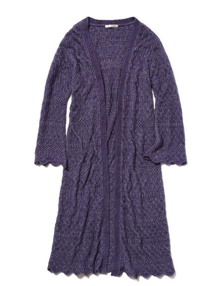 'smoothie'鉤織針織開襟罩衫