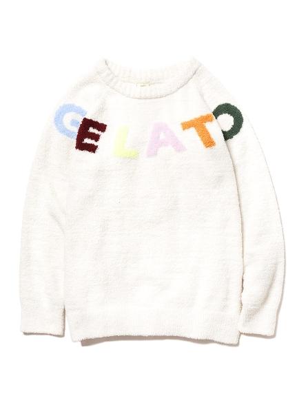 彩色字母緹花上衣