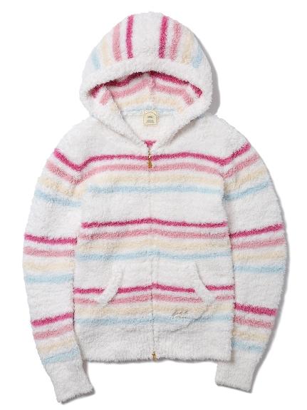 ' gelato ' 彩虹條紋連帽外套