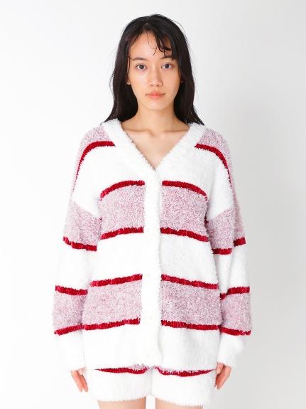 【PARIYA】蛋糕條紋針織外套