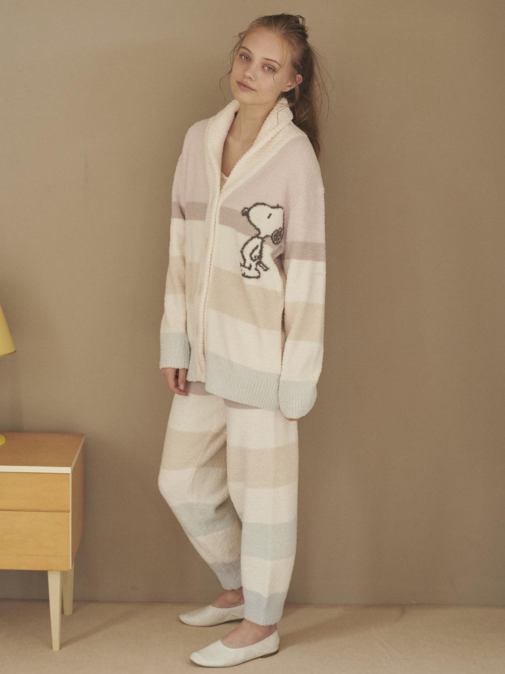 【PEANUTS】SNOOPY條紋針織外套