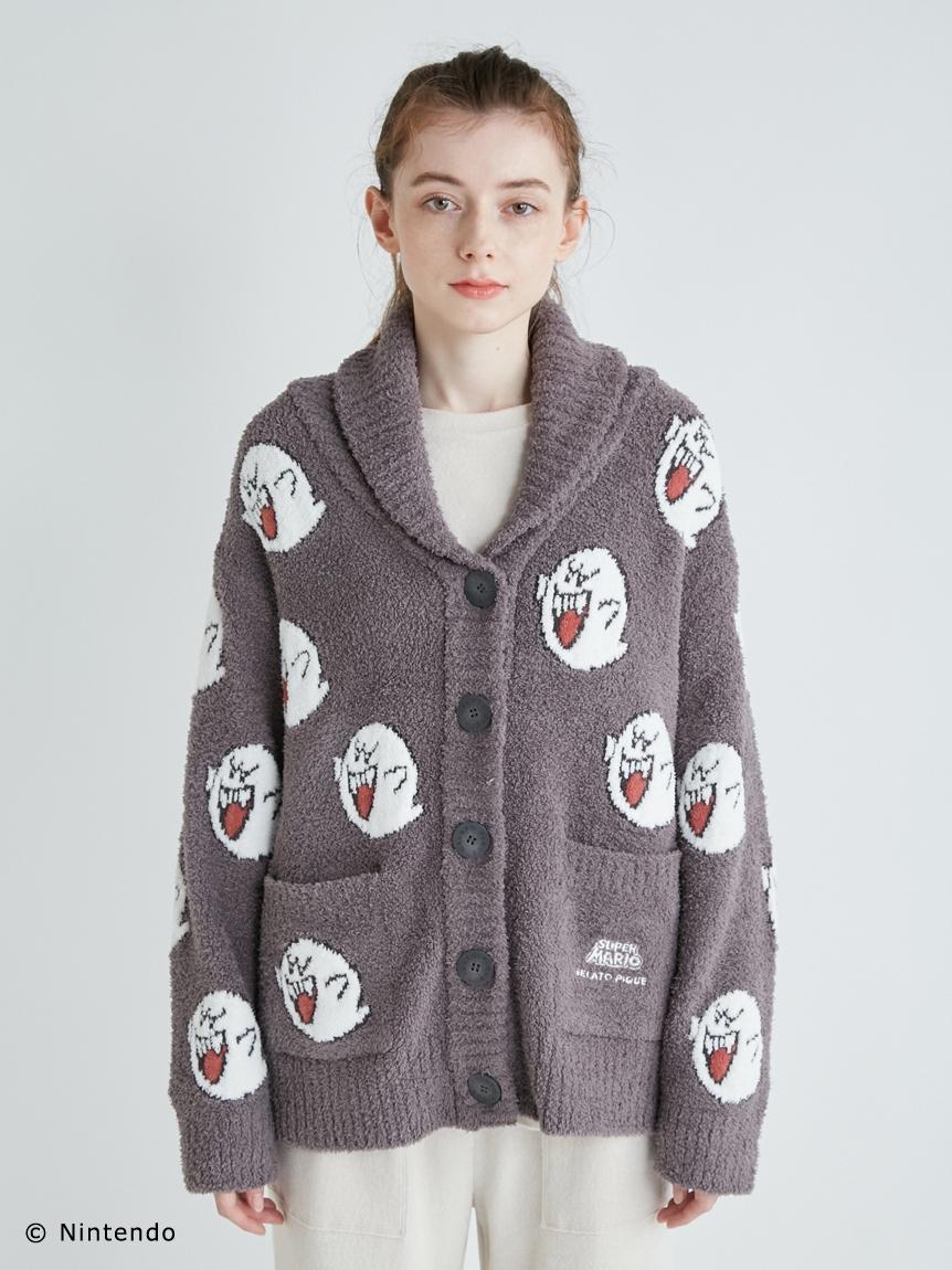 【超級瑪利歐】LADY-角色緹花針織外套