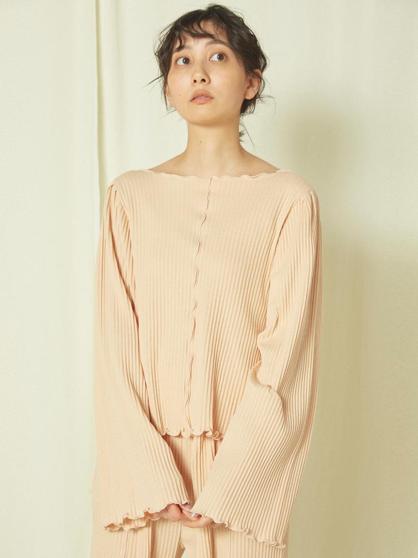蘆薈精華 小捲邊羅紋上衣