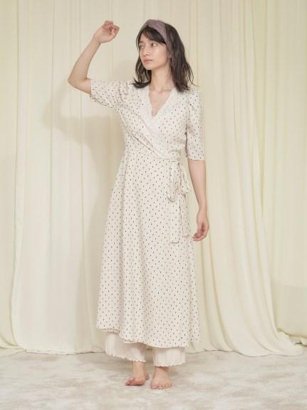【神崎惠聯名】摩洛哥堅果油 蕾絲點點連身裙