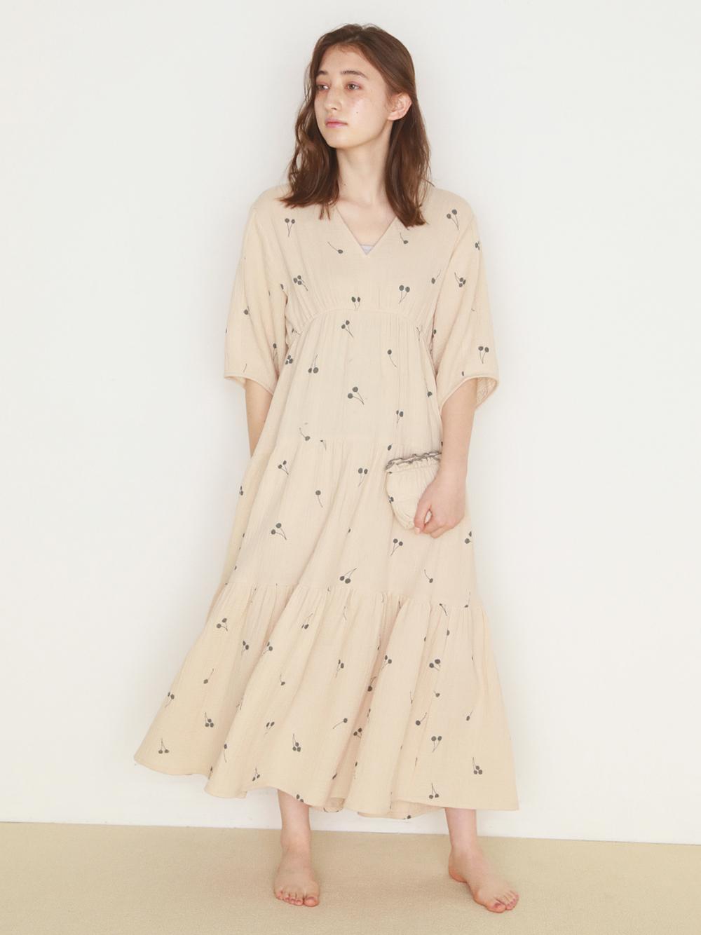 乳木果油 二重紗連身裙