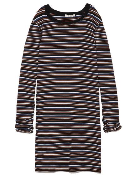 條紋連身裙