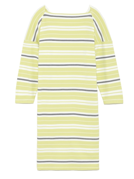 條紋剪裁連身裙