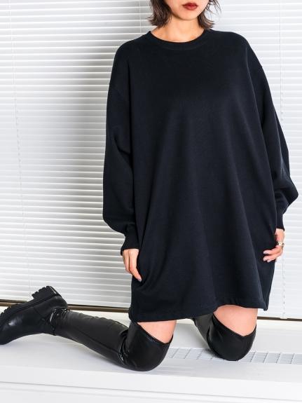 純色寬鬆衛衣連身裙