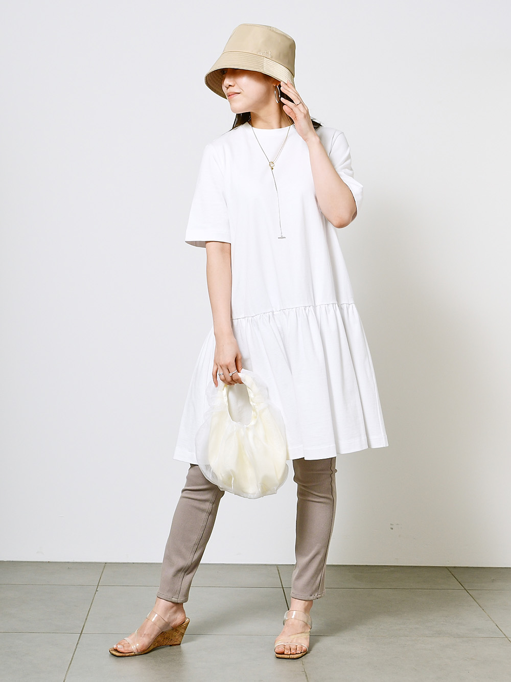 ORGANICS有機純棉短版連身裙
