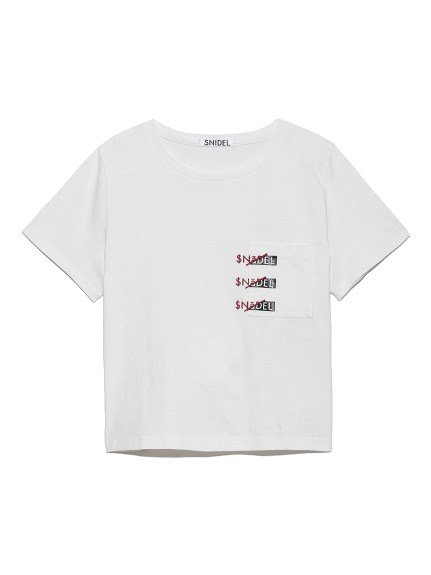 SNIDEL印花t-shirt