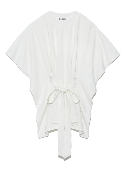 腰綁帶斗篷T-Shirt