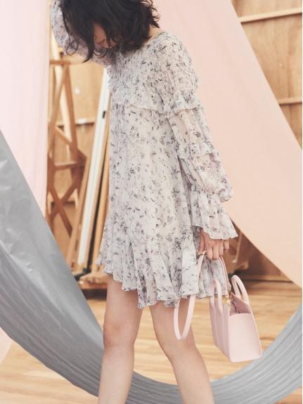 透膚層次花邊連身裙