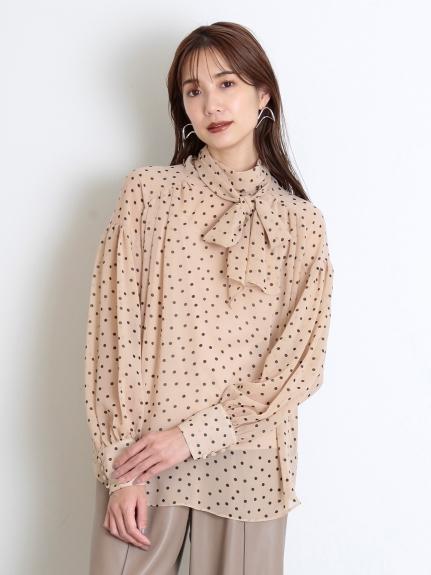 絲棉透膚領結襯衫