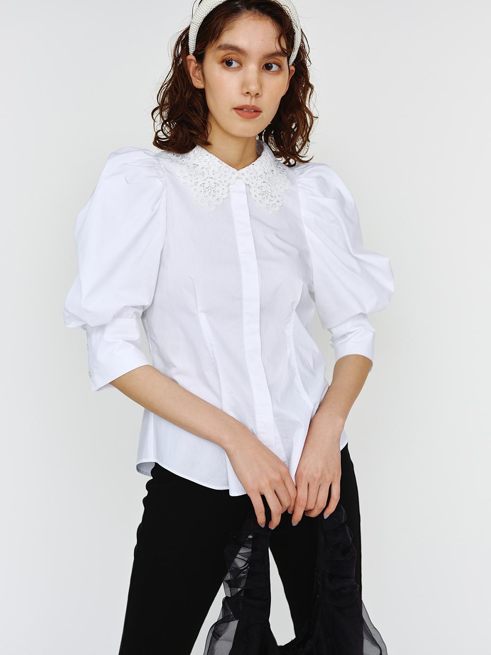 ORGANICS蕾絲領襯衫
