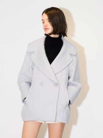 翻領羊毛大衣