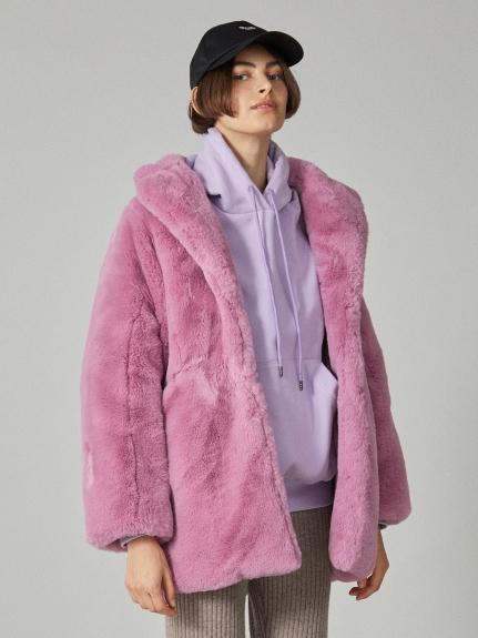 個性絨毛大衣