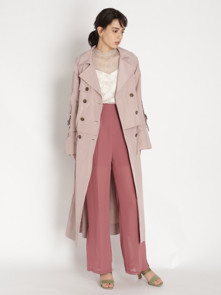 3WAY雙排釦風衣外套