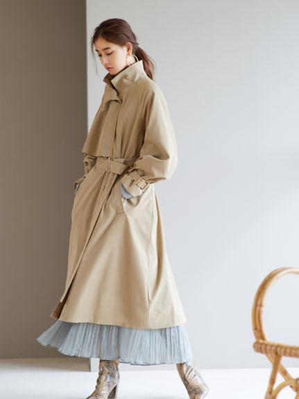 立領風衣外套