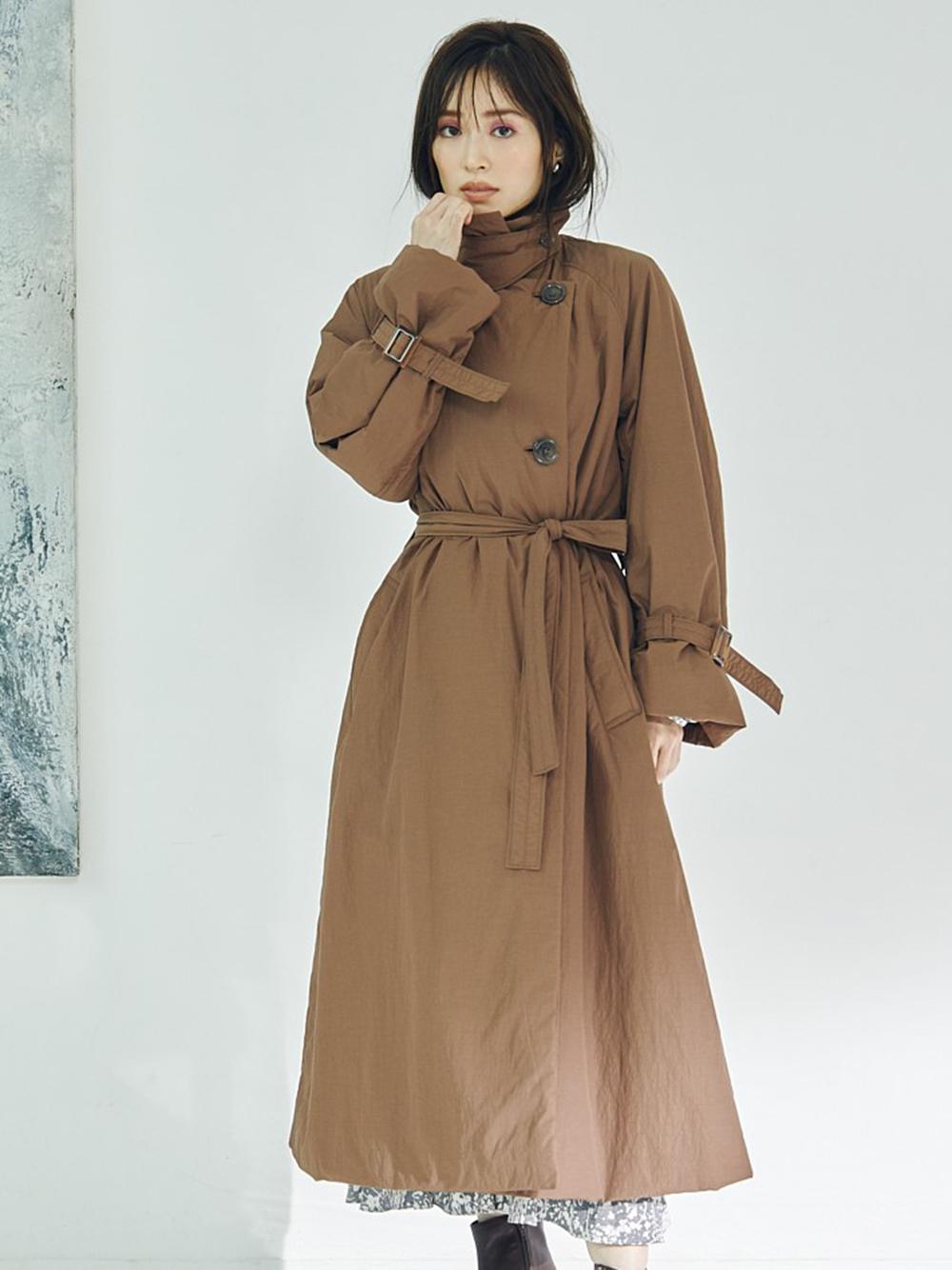 風衣造型鋪棉大衣