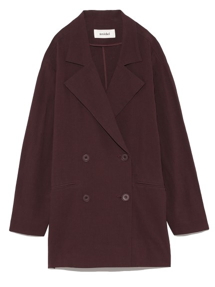 棉麻剪裁大衣