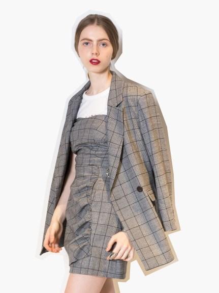 率性格紋西裝外套