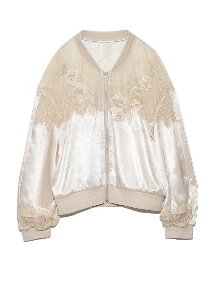 刺繡蕾絲布勞森外套
