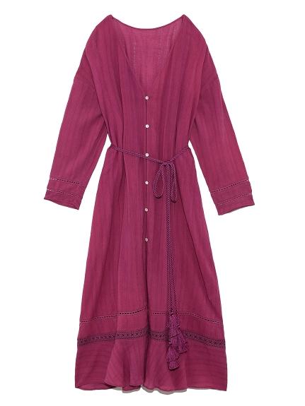 棉質楊柳紗開襟罩衫