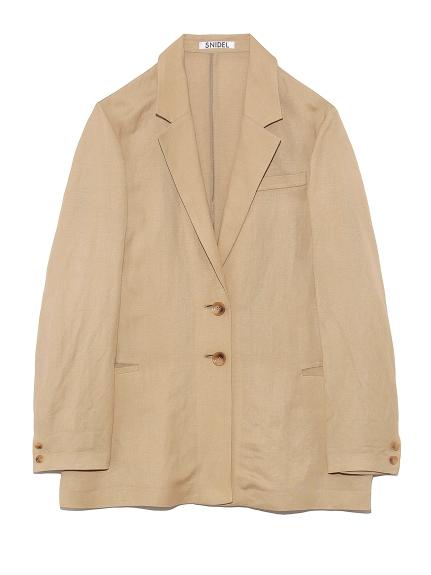 色彩棉麻西裝外套