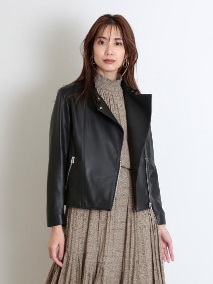 環保皮革騎士夾克