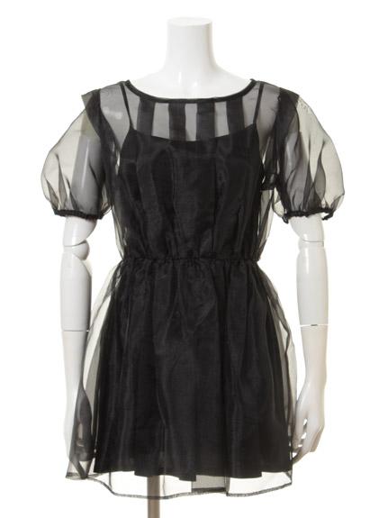 氣質透膚薄紗洋裝