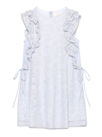 荷葉蕾絲造型洋裝