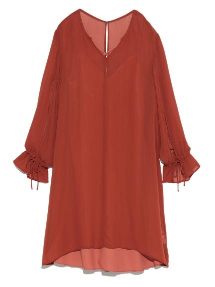 素雅雪紡兩件式洋裝