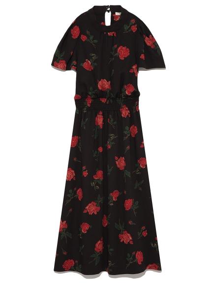 印花造型長版連身裙