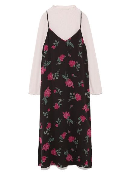 氣質花卉連身裙兩件組