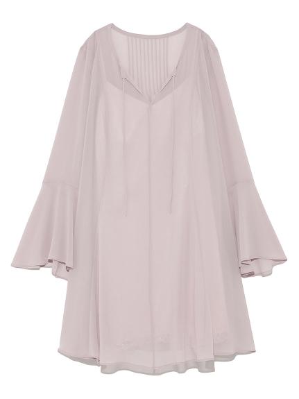 素雅雪紡剪裁洋裝