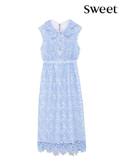 氣質剪裁蕾絲連身裙