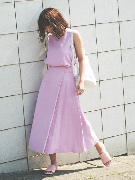 純色亞麻衣裙兩件組