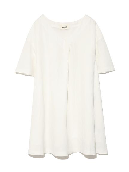 棉麻寬鬆剪裁連身裙