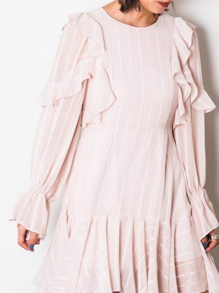 荷葉褶邊連身裙