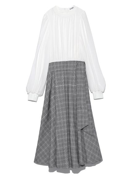 襯衫拼接洋裝