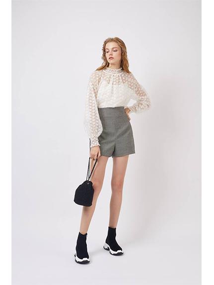 刺繡花柄兩件式連身褲